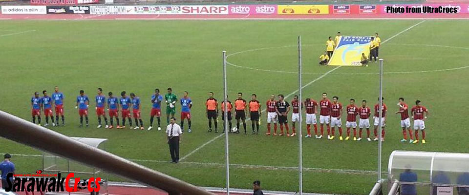 During the Sabah vs Sarawak game in Likas Stadium - Photo by UltraCrocs