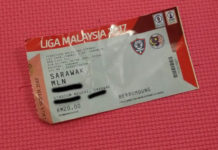 Tickets for Sarawak FA match
