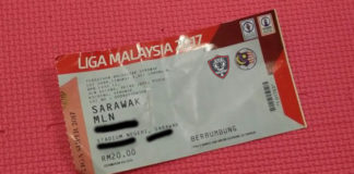 Tickets for Sarawak FA match
