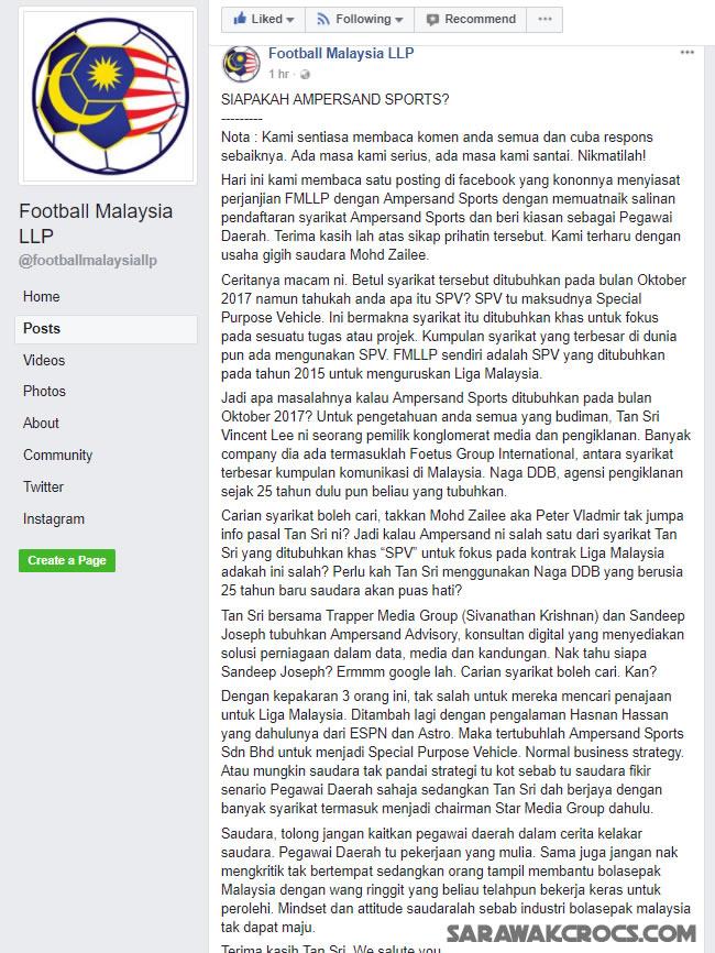 Jawaban kepada kritikan terhadap tajaan terbaru Liga Malaysia