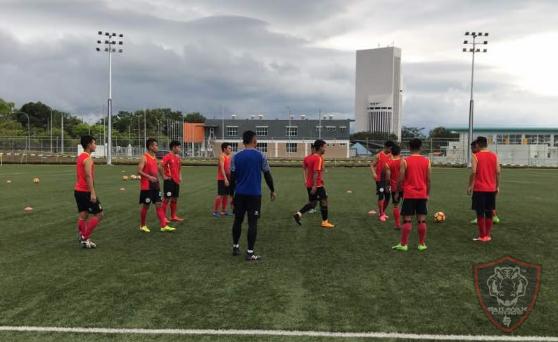 Sarawak FA 2018 pre-season training and selection yesterday. Photo: Narayanan