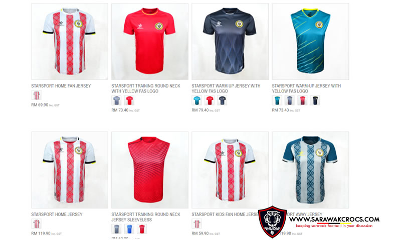 Koleksi Jersi Sarawak FA 2018
