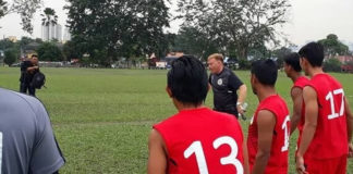 Sarawak FA training. Photo by Official Sarawak FA