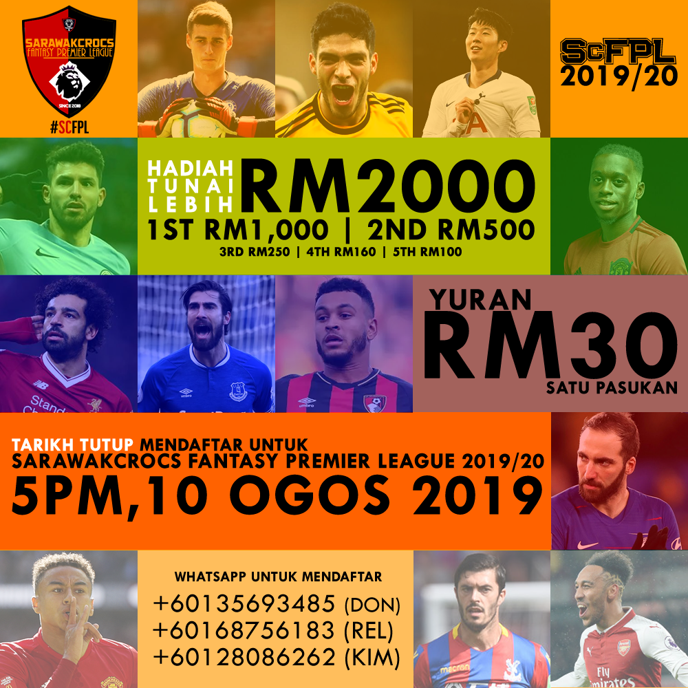 SarawakCrocs Fantasy Premier League 2019/20