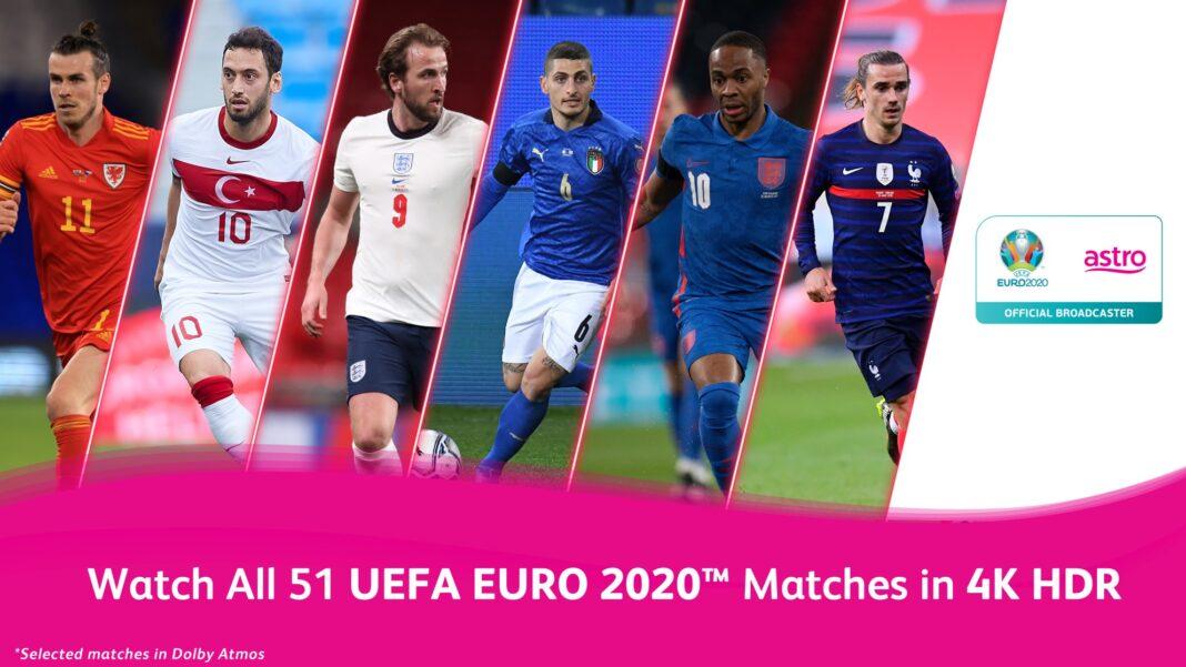 Jadual siaran langsung UEFA EURO 2020